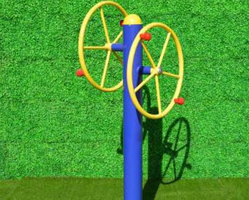 How is the process of outdoor fitness equipment such as the outdoor arm wheel?